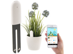 detecteur de croissance pour plantes avec surveillance lumiere temperature humidité et application royal gardineer