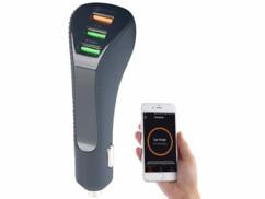 Chargeur allume-cigage connecté avec ports USB de type A par Lescars