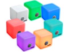 haut parleur avec lampe LED multicolore telefunken etanche pluie