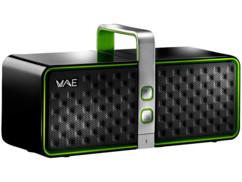 enceinte bluetooth design noir et vert multipoint hercules wae btp03 avec micro integré