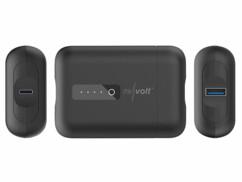 Batterie d'appoint 10000 mAh très compacte avec un port USB et un port USB-C.