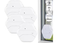Set de 4 détecteurs de bris de vitre ultraplats, 95 dB