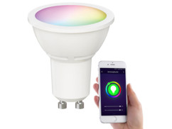 Spot LED connecté LAV-200.rgbw de Luminea Home Control.