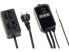 Thermostat numérique secteur 2300W pour 2chauffages et climatiseurs avec sonde filaire.