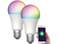 2 ampoules LED connectées E27/ 15 W / RVBBLAV-170.rgbw
