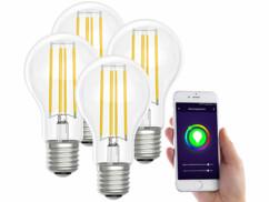 4 ampoules LED connectées LAV-150.t E27- A60- 7W- Blanc neutre