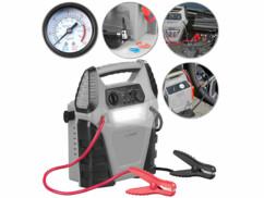 Batterie nomade PB-145.kfz avec aide au démarrage, compresseur d'air et lampe LED intégrés.