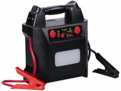 Batterie de secours 40 Ah modèle PB-600.kfz avec une prise 230 V, deux prises 12 V et un port USB intégré.