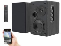 Haut-parleurs stéréo actifs bluetooth avec boîtier en bois MSS-95.usb