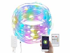 Guirlande à LED RVB connectée compatible commandes vocales - 10 m