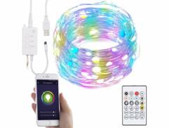 Guirlande à LED RVB connectée compatible commandes vocales - 5 m