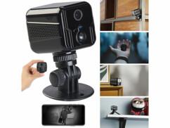 Mini caméra contôlable par application et smartphone avec vision nocturne microphone et haut-parleur intégrés