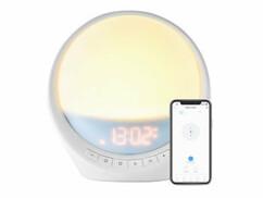 réveil simulateur d'aube lever de soleil connecté avec smartphone application