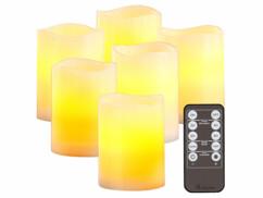 Bougies LED en cire avec effet flamme réaliste télécommande et minuterie par Britesta