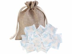 Absorbeur d'humidité avec sac en coton et 25 sachets de gel de silice.