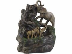 """Fontaine lumineuse décorative """"Éléphants""""."""