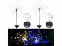 Lot de 2 décoration lumineuses à LED avec couleurs et lumière blanc chaud.