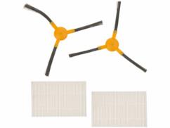 Brosses latérales et filtres HEPA de rechange pour robot aspirateur PCR-3200.