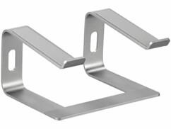 """Support en aluminium couleur anthracite pour ordinateur portable jusqu'à 15,8""""."""