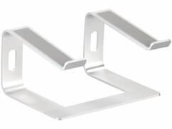 """Support en aluminium argenté pour ordinateur portable jusqu'à 15,8""""."""