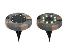 Deux lampes de sol avec LED solaires.