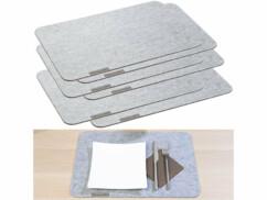 6 sets de table en feutre - 45 x 30 cm - Gris clair