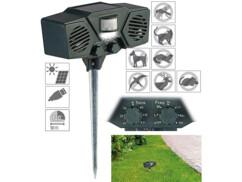 Appareil anti-nuisibles solaire à ultrasons et lumière T-815