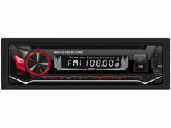 Autoradio 1-DIN CAS-3700.bt avec lecteur CD, port USB, fente pour cartes microSD et fonction bluetooth.