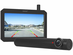 Caméra de recul sans fil avec chargement par puce solaire intégrée.