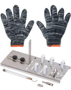 Coupe-verre avec 5 roues et gants