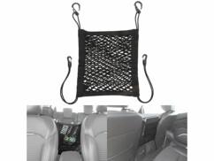 Filet de rangement élastique pour dossier de siège automobile - 30 x 28 cm