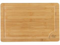 Planche à découper en bambou de 38 x 25 centimètres.