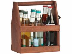 Porte-bouteilles en bois de pin pour transporter jusqu'à 6 bouteilles de 50 cl.