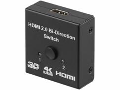 Switch et répartiteur HDMI 2.0 de la marque Auvisio.