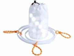 Tube lumineux d'extérieur USB avec 45 LED - 1,5 m - Blanc lumière du jour