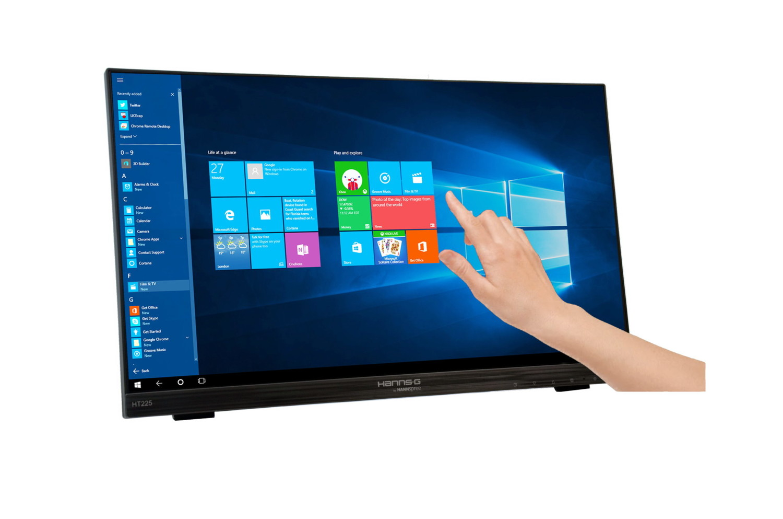 ecran pc tactile 22 1080p format 16 9 hannspree ht225hpb. Black Bedroom Furniture Sets. Home Design Ideas