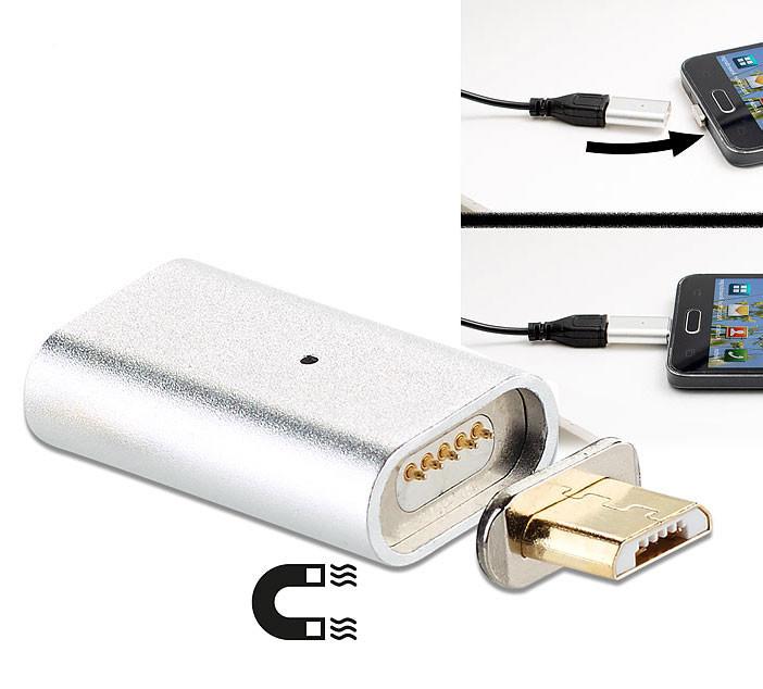 Adaptateur Micro Usb Magnétique Pour Câble De Chargement Et Transfert