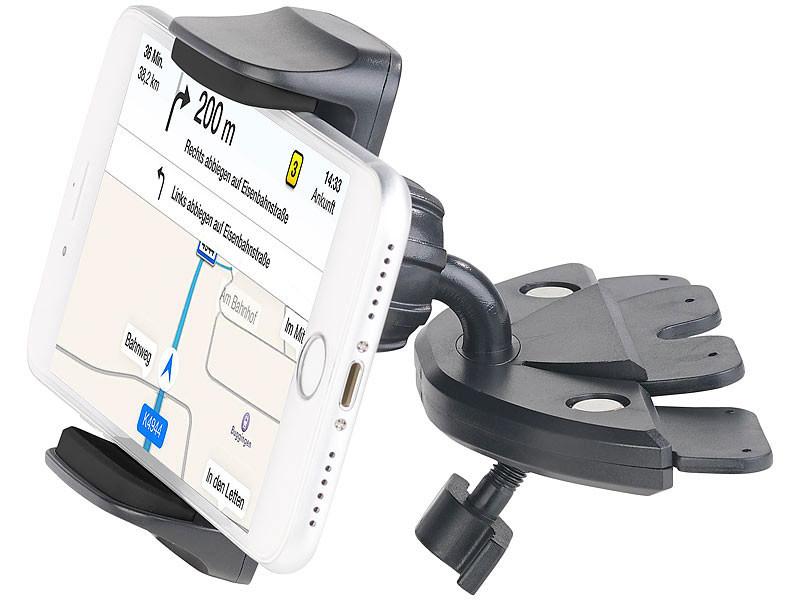 support universel smartphones pour lecteur cd de voiture