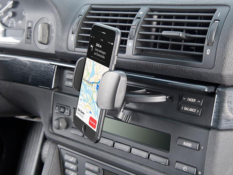 support universel smartphones pour lecteur cd de voiture. Black Bedroom Furniture Sets. Home Design Ideas