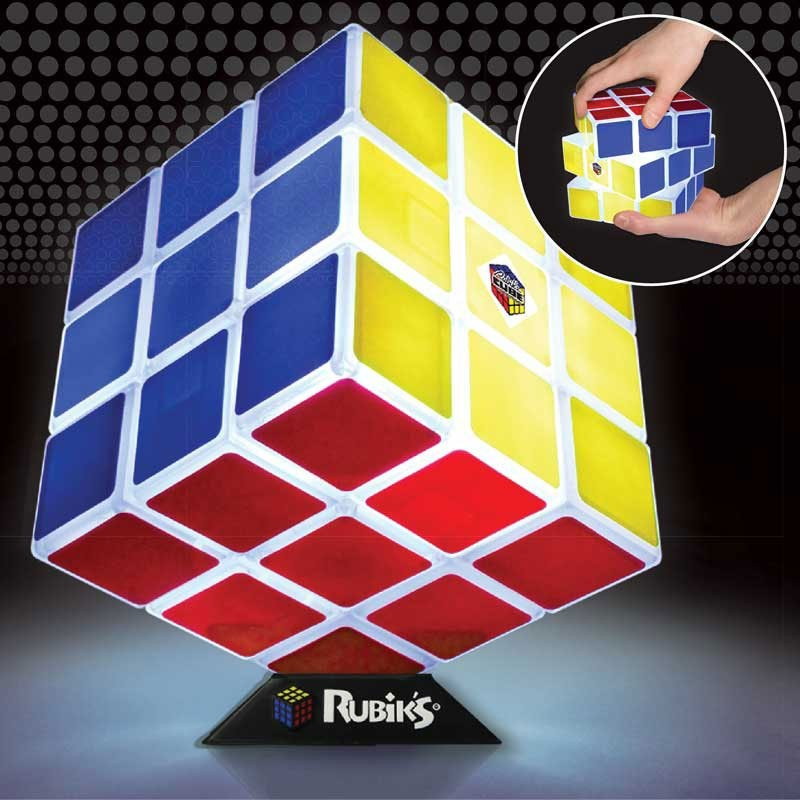 Lampe rubik 39 s cube 3x3 lampe d co geek et ludique - Rubik s cube geant ...