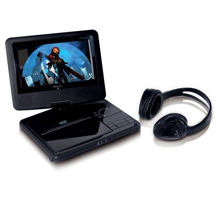 lecteur dvd portable avec casque sans fil
