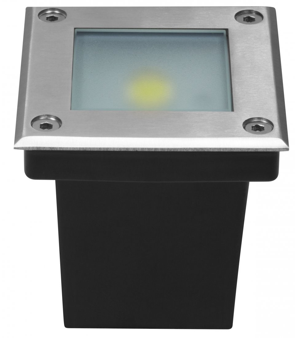 Spot led carr ext rieur encastrable et tanche blanc ou for Spot exterieur orientable encastrable