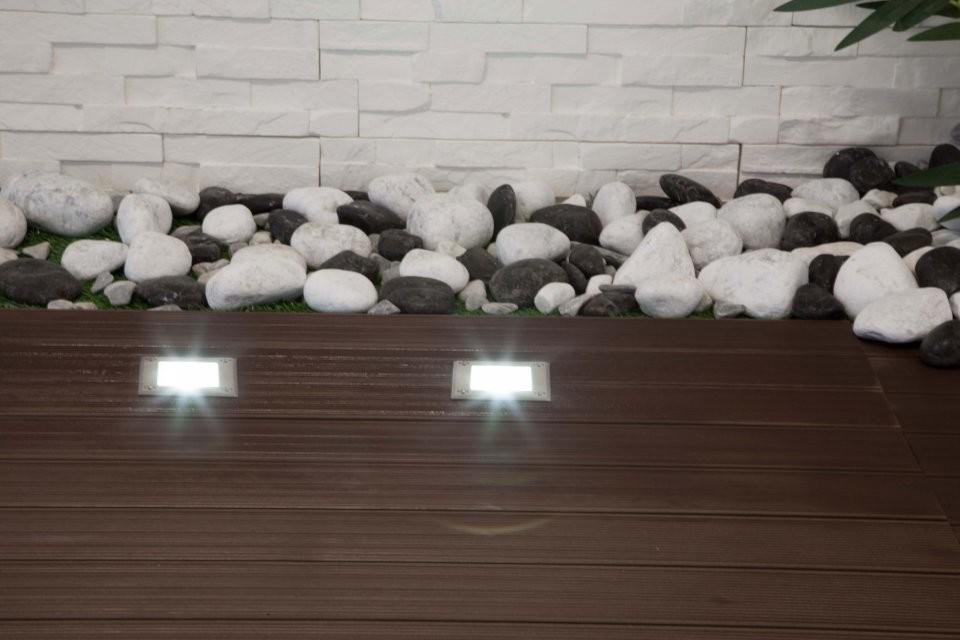 Spot led carr ext rieur encastrable et tanche blanc ou - Eclairage exterieur mural encastrable ...