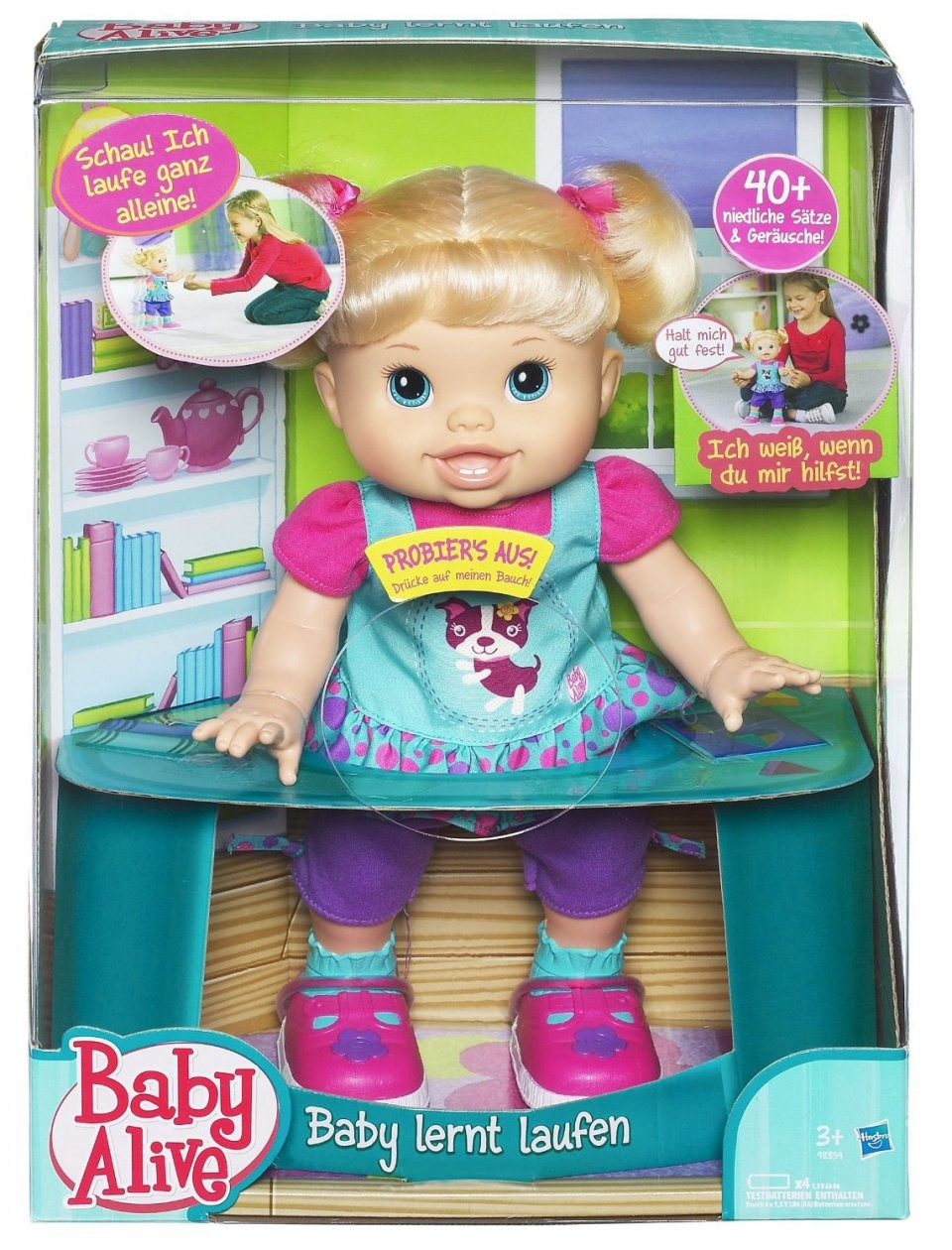 poup e baby alive b b apprend marcher jouet fille. Black Bedroom Furniture Sets. Home Design Ideas