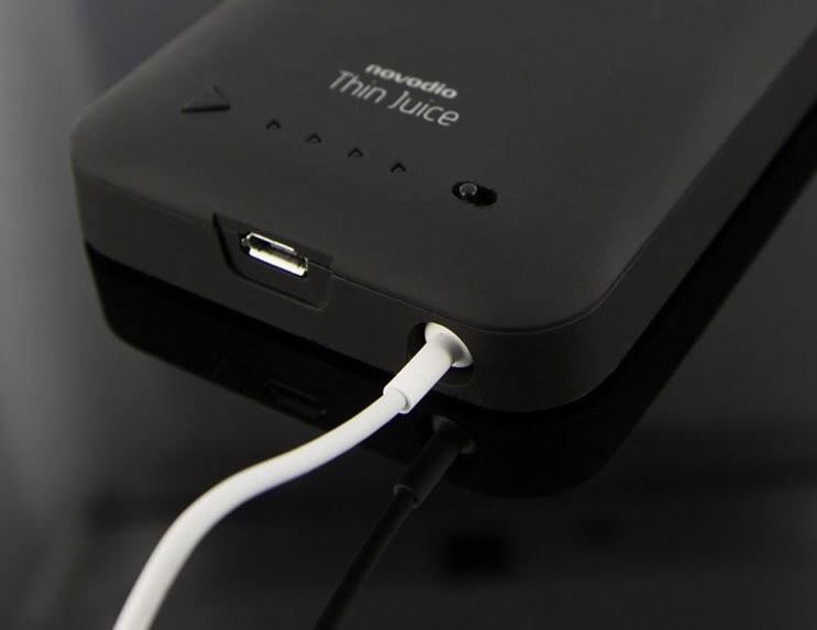 coque batterie pour iphone 5 et iphone 5s 2000mah novodio. Black Bedroom Furniture Sets. Home Design Ideas