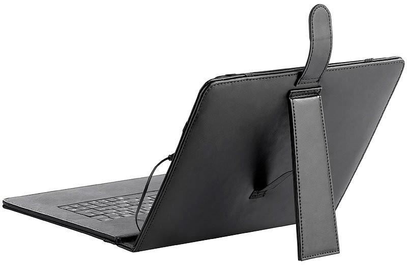housse aspect cuir pour tablette 9 7 39 39 avec clavier. Black Bedroom Furniture Sets. Home Design Ideas