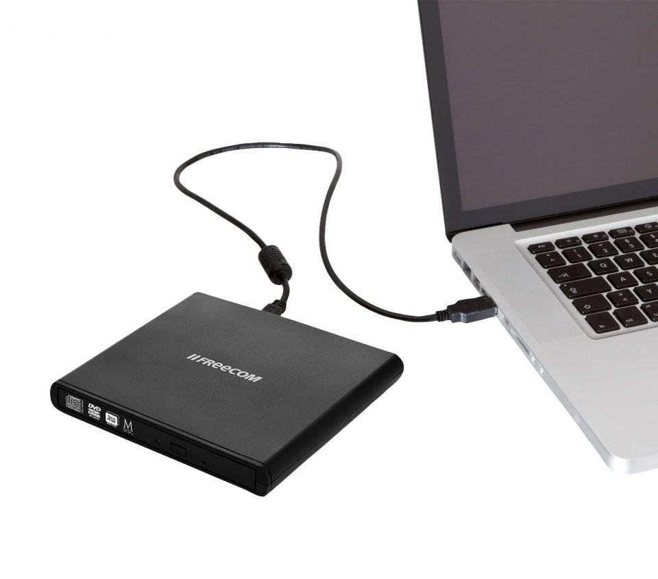 Graveur dvd et cd externe usb 2 0 freecom 56348 for Lecteur biometrique exterieur