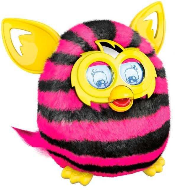 article KT peluche animee furby electronique boom sweet rose et noir
