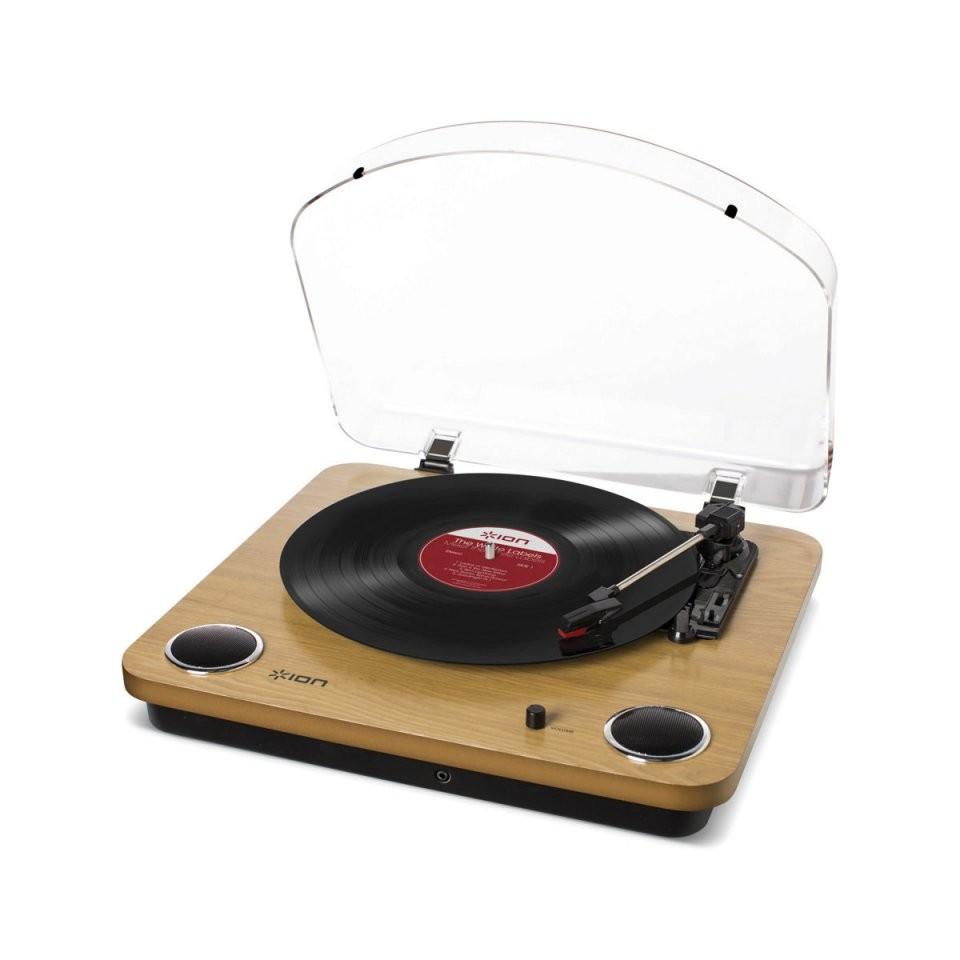 platine vinyle avec haut-parleurs et convertisseur ion audio max lp