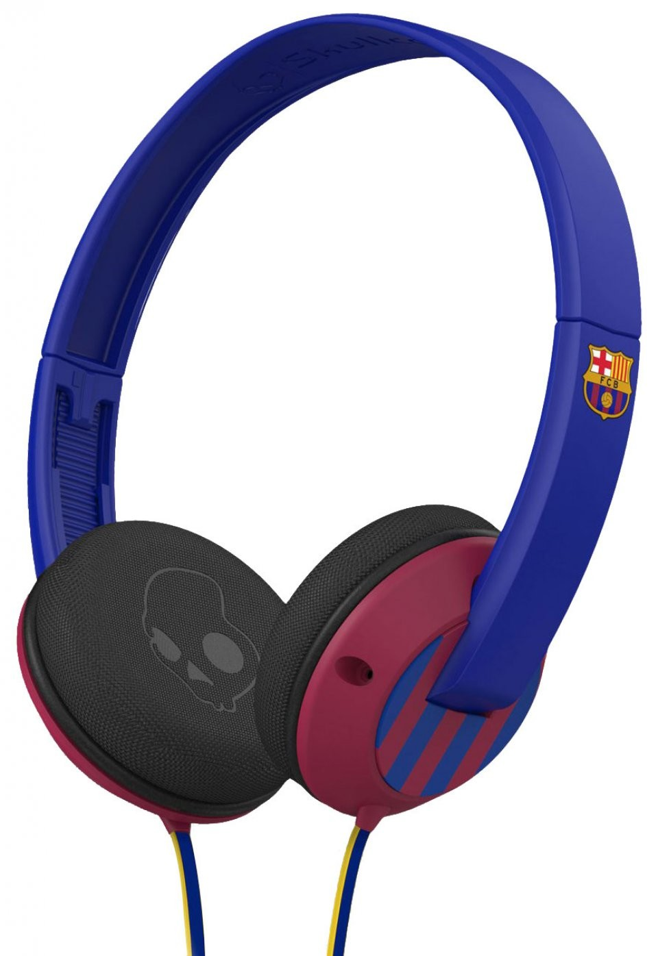casque filaire fc barcelona par skullcandy casque avec micro. Black Bedroom Furniture Sets. Home Design Ideas